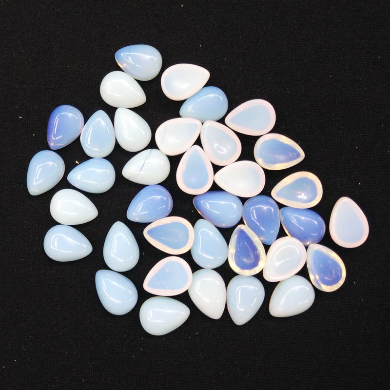 2016 Fashion opal stone teardrop CAB CABOCHON beads for jewelry making 10x14mm wholesale 50pcs/lot free shipping