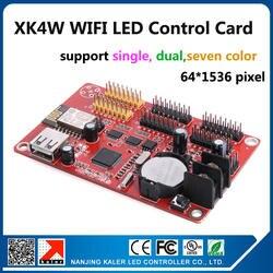 Легко Управление LED Дисплей Панель карты Поддержка открытый P10 Светодиодные модули один и двойной Цвет Wi-Fi Управление карты xk4w 64x1536 пикселей