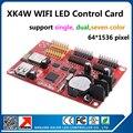 Fácil operação Display LED cartão de painel de suporte ao ar livre P10 levou módulos cor simples e dupla wi fi cartão de controle XK4W 64 X 1536 pixel