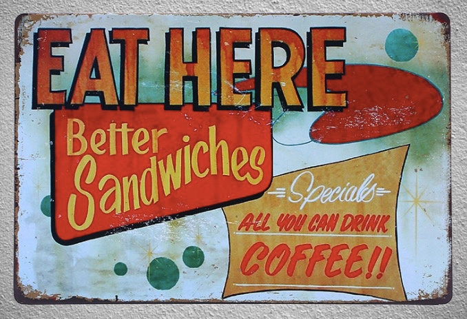 1 pc Snack Sandwiches Burgers Restaurant shop store coffee Tin Plates Signs wall plaques Decoration Dropshipping Poster metal