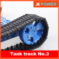 Free Shipping 20pcs/lot No.3 Tank Track Wheel Tires Tyre For Robot Parts Bringsmart
