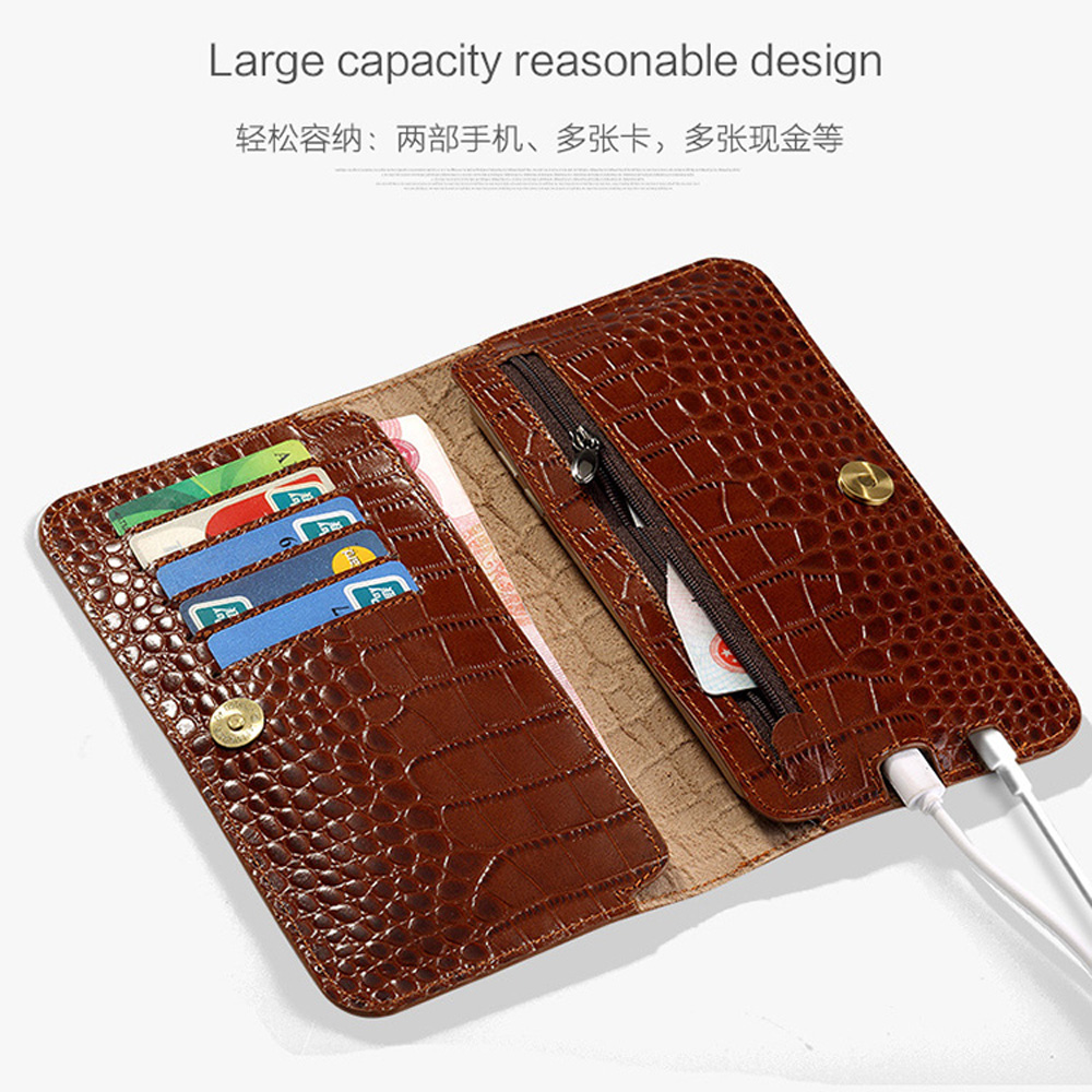 Flip Genuine Leather case For Redmi 5 plus phone case Crocodile skin Wallet Bag Note4 Plus 6a 8 A2 lite Max 3 Mix handbag