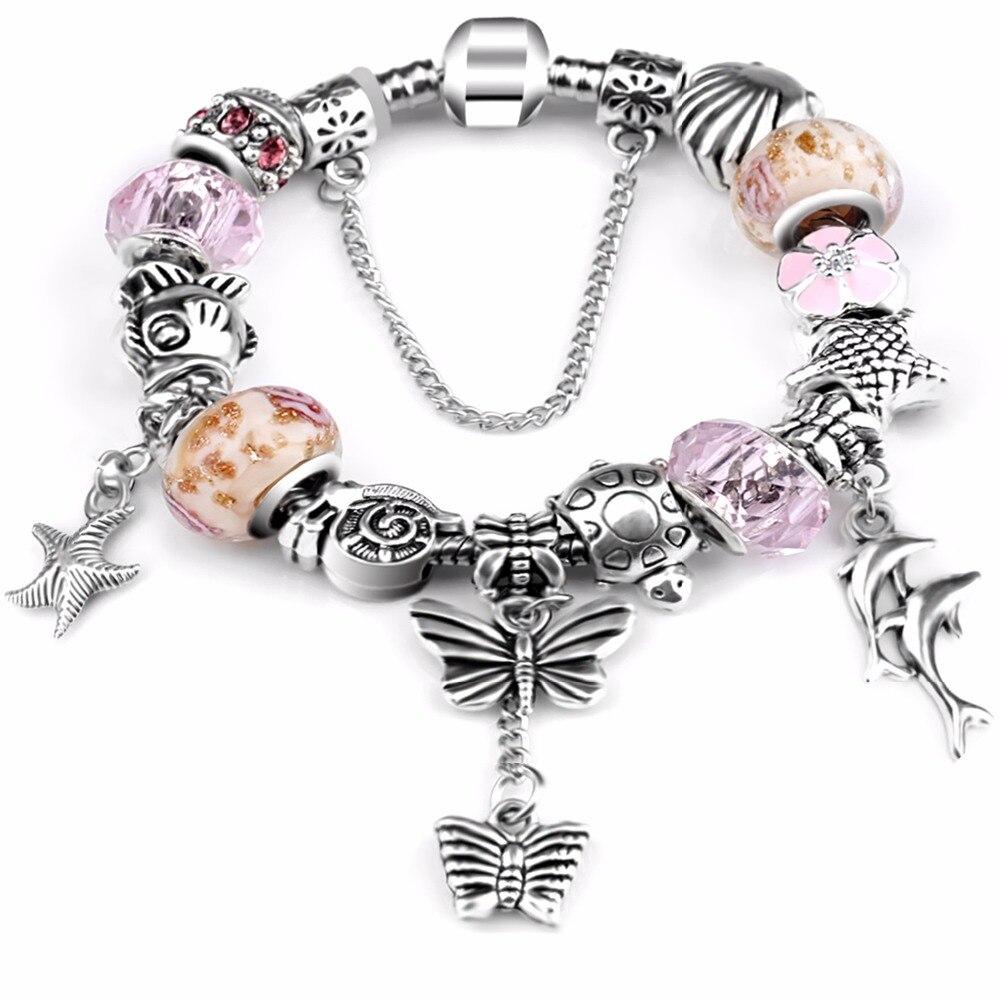 Европейский и американский океан черепаха dophin браслет эмаль цветок из бисера чакра Fit P Браслеты для подарка ...
