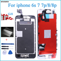 Superior Quality LCD For iPhone 6s 7 Plus 8 8 Plus Completed LCD Screen Assembly Replacement With Front Camera+Speaker+Gift