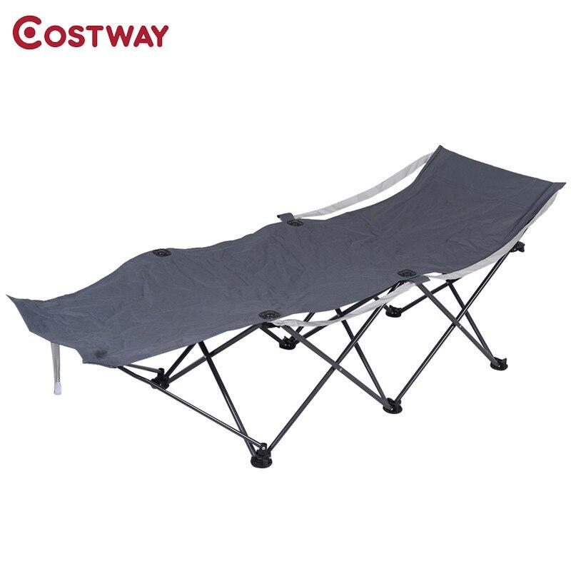 Costway Casual Portable Folding Durable Camp Beach Chair