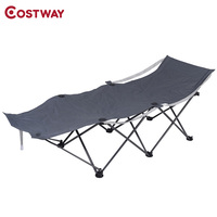 COSTWAY Casual Portable Folding Durable Camp Beach Chair Recliner Chair Outdoor Furniture OP2489