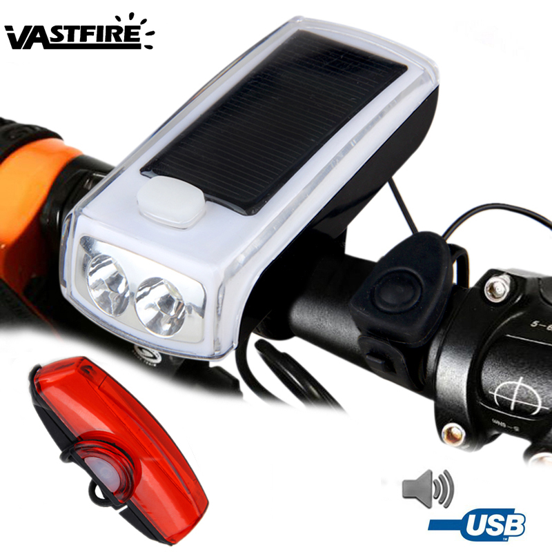 Bike Lights With 140dB Horn IP45 Waterproof Rechargeable LED Bicycle Light Hot