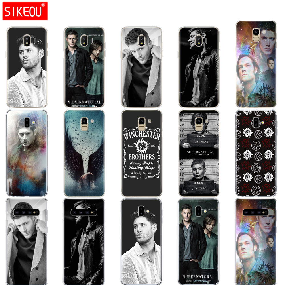 case for Samsung galaxy J2 core J8 j6 j4 PLUS 2018 cover case for samsung galaxy s10 SE plus Supernatural SPN Jensen Ackles image