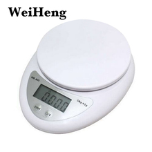 WEIHENG 5000g/1g 5kg Food Diet Postal Kitchen Scales balance Measuring weighing scale LED