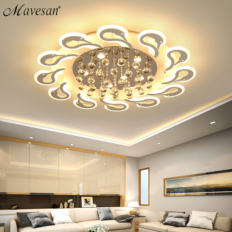 New led Chandelier For Living Room Bedroom Home lustre para sala AC85-265V Modern Led Ceiling Chandelier Lamp Fixtures lustre