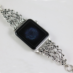 Image 5 - Women bracelet band for Apple Watch Bands 38mm/42mm Stainless Steel metal with Diamond Strap for iwatch series 5 4 3 2 1