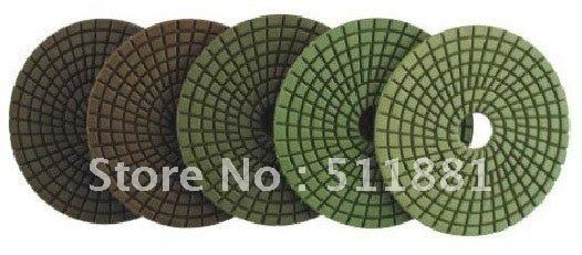 5 pakopos poliruoto betono | 3 '' 80mm NCCTEC deimantiniai drėgno poliravimo įklotai | Sutaupykite laiko ir pinigų