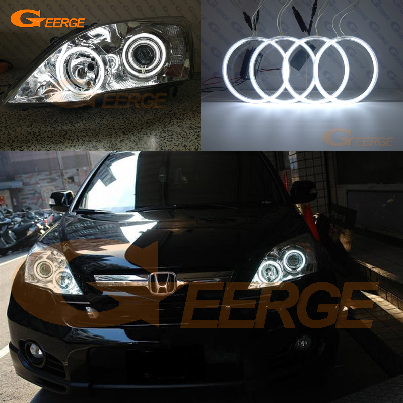 For HONDA CR-V CRV 2007 2008 2009 2010 2011 Xenon HEADLIGHT Excellent angel eyes Ultra bright illumination CCFL Angel Eyes kit for chrysler pacifica 2007 2008 halogen headlight excellent angel eyes ultra bright illumination ccfl angel eyes kit