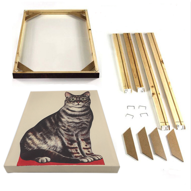 Natural Wood Frame for Canvas Painting Picture Wall Photo Frame Poster Wedding Decorative Frame Hand Painting Cloth Stent