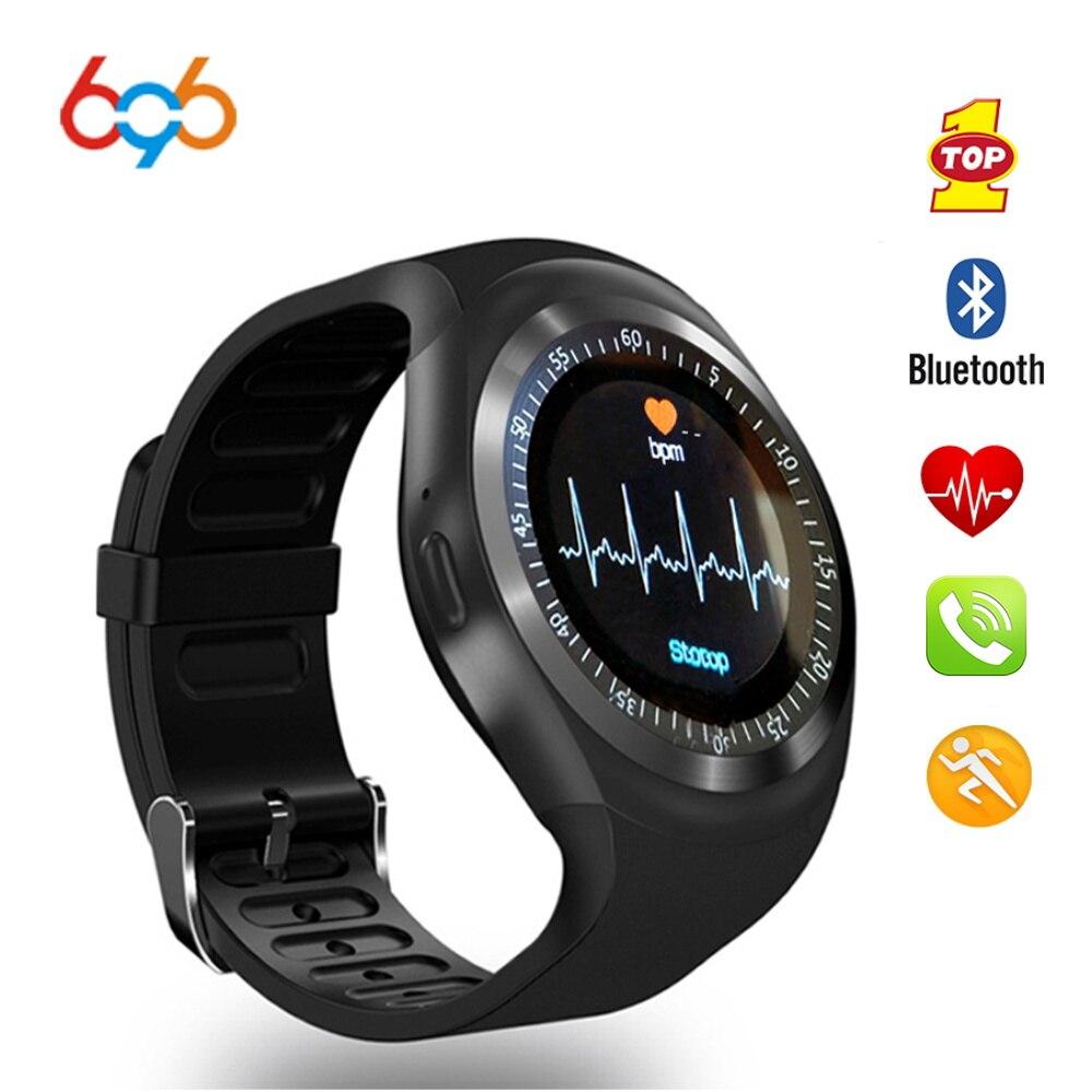 696 nuevo reloj inteligente deportivo Y1HR monitor de ritmo cardíaco Passometer reloj inteligente hombres Fitness rastreador pulsera inteligente pantalla de información