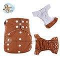 EA2 Bebé recién nacido Pañal de Tela Cubierta 1 Unids Reutilizables Pantalones de Entrenamiento Pañales Nappy Fralda Jinobaby 5-12Kg Asistente de bebé Pañales