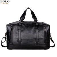 VICUNA POLO Business Men Travel Bags Large Capacity Brand Casual Black Travel Handbag High Quality Travel