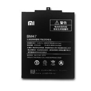 Image 3 - XiaoMi BM47 orijinal cep telefonu pil Xiaomi Redmi 3 S için yedek 4000mAh kapasiteli pil Redmi 3X Hongmi 3 S