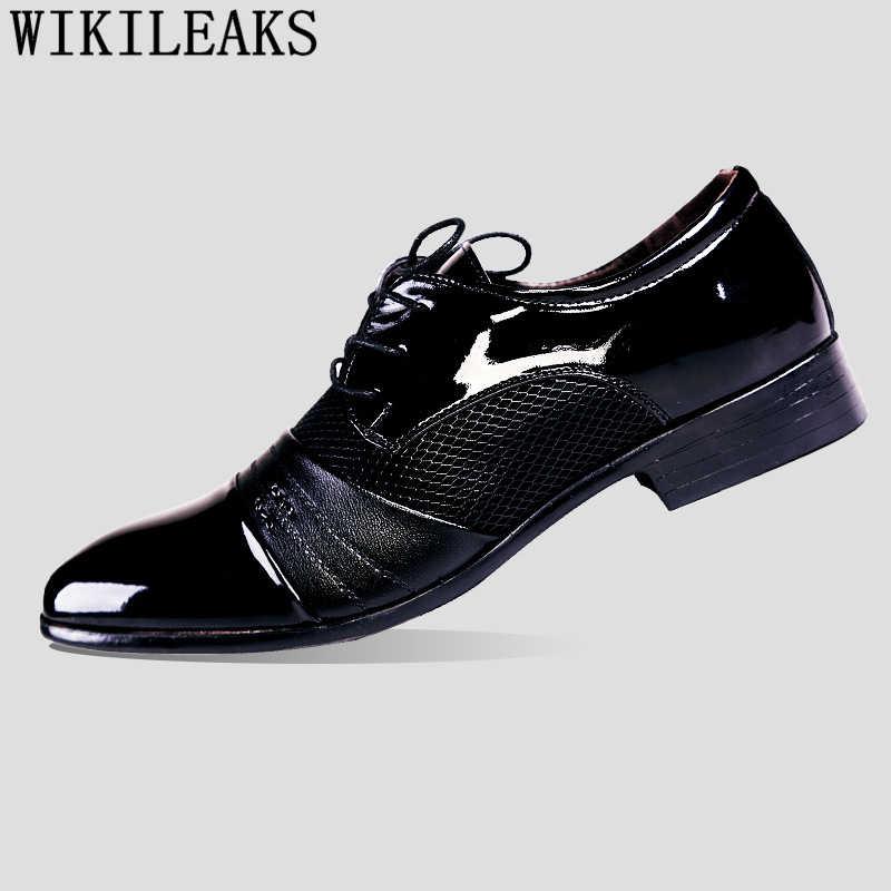 Zapatos hombre Zapatos de oxford para boda italianos elegantes para hombre para 2019 coiffeur vestido marrón zapatos formales hombres marca clásica talla grande zapatos