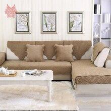 Camello café floral sofá de felpa cubierta acolchar fundas protector de muebles baratos fundas de sofá sofá capa de sofá fundas SP3308