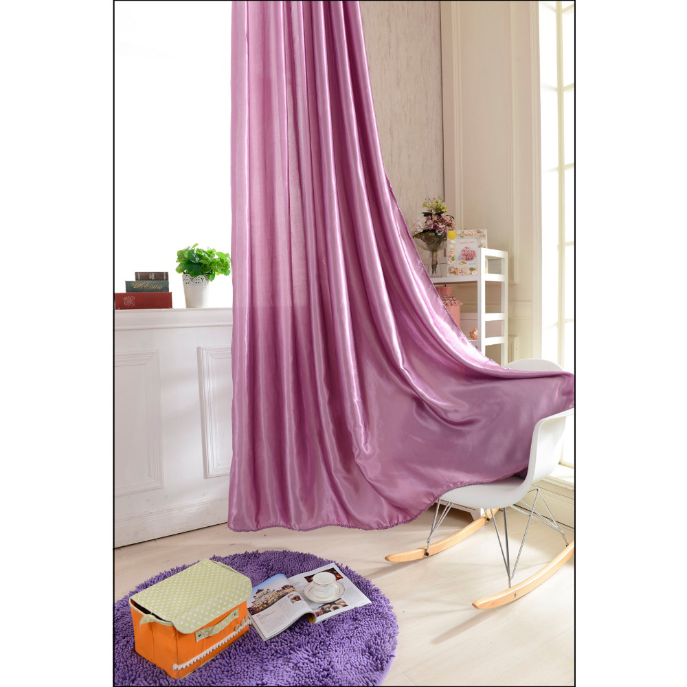 100250 Lilac Color Curtain Window Curtains For Kids Boys Girls Bedding Room Living