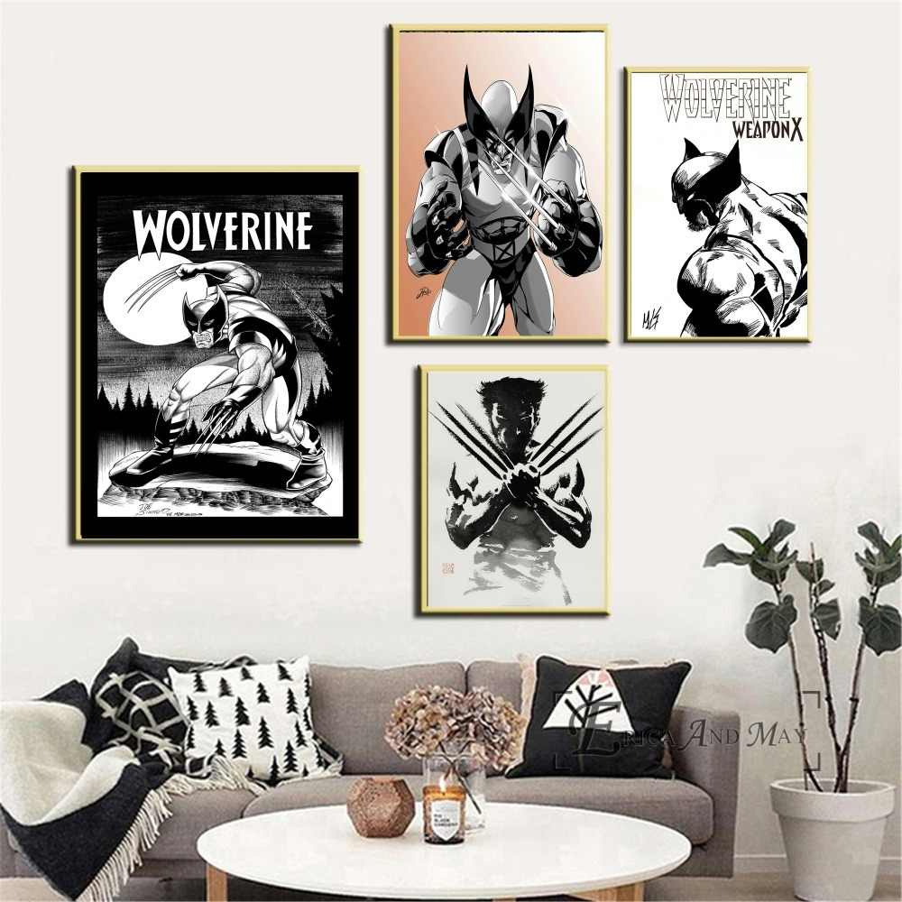 Comic Wall Decor Wolverine Black And White Comic Wall Art Canvas Painting Poster For Home Decor Posters And Prints Unframed Decorative Pictures