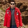 Letra e Número de Patch Designs Com Capuz de Lã Homens Jaqueta de Inverno 2016 Outono Inverno Mens Casual Brasão Plus Size