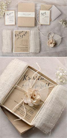 Ev ve Bahçe'ten Kartlar ve Davetiyeler'de Ücretsiz kargo 10 takım evlilik davetiyesi kutusu kraft kağıt kraft rsvp kartı ücretsiz baskı ile kağıt bant kraft zarf'da  Grup 1