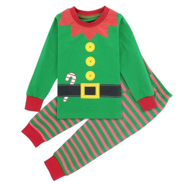 boys christmas pajamas kids santa claus elf costume pyjamas child winter xmas sleepwear children long sleeve - Elf Christmas Pajamas