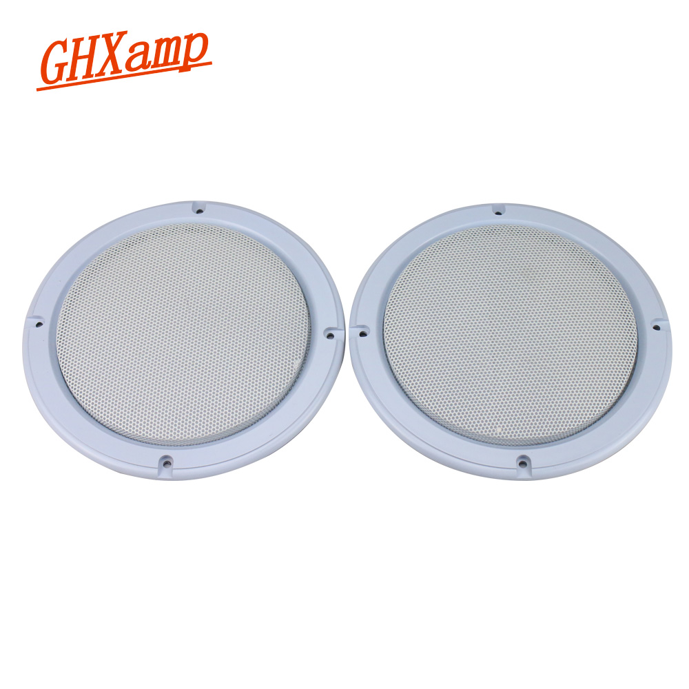 GHXAMP 4 Inch 6.5 Inch Speaker Cover White Grill Mesh Protective Cover For Ceiling Speaker Car Subwoofer Loudspeaker 2pcs