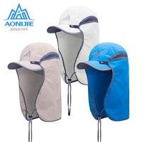 Spor ve Eğlence'ten Balıkçılık Şapkaları'de AONIJIE E4089 Unisex balıkçı şapkası güneşlik kapağı şapka açık UPF 50 güneş koruma ile çıkarılabilir kulak boyun Flap kapak yürüyüş için