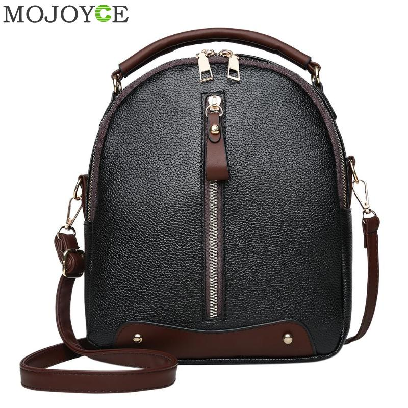 Leather Backpack Mochila Women Big Zipper Backpack Student Bag Backpack Female Large Casual Travel Bags Mochila Feminina Sac