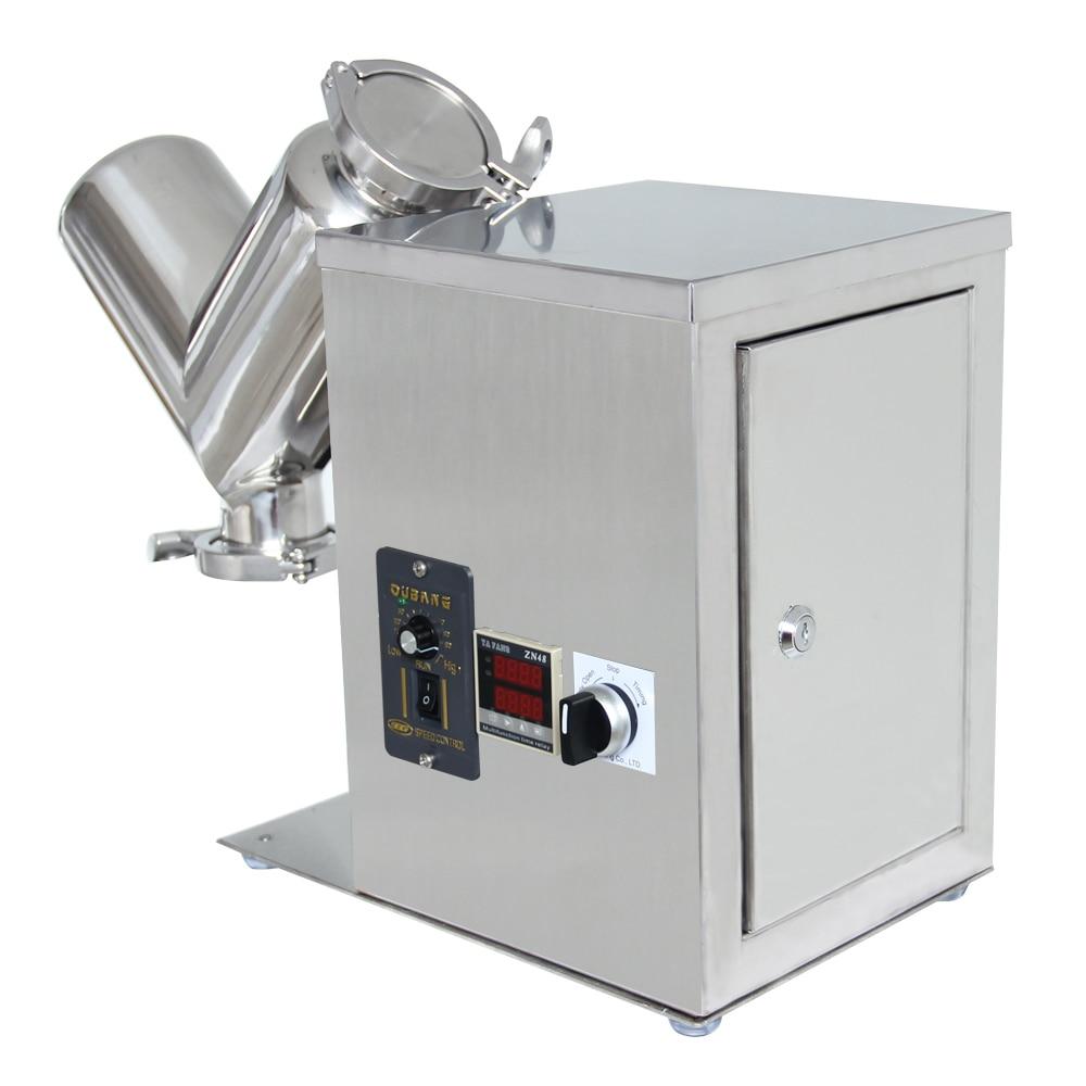 2L Lab Shear V Type Dry Powder Mixer Mixing Machine Blender Blending Machine digital shear emulsification lab mixer lr 10 mixer disperser emulsifying machine 10kg capacity 220v or 110v