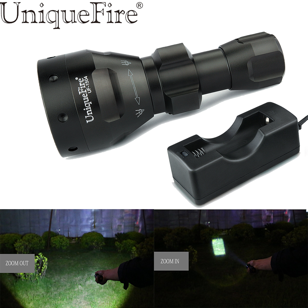 Disciplined Uniquefire Uf-t67 Portable Mini Led Torch Black Color Flashlight Cree Xpg/q5 Lamp Torche With 18650 Battery +charger black