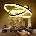 Modern led pingente luzes da sala de estar sala de jantar luminária suspendu suspensão led dispositivo elétrico da lâmpada de iluminação do anel de techo colgante