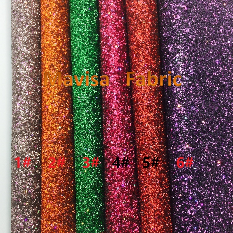 1PCS A4 SIZE 21X29cm  Synthetic Leather, Artificial Leather, Chunky Glitter Fabric For Bow DIY  Handbags Shoes  MK001
