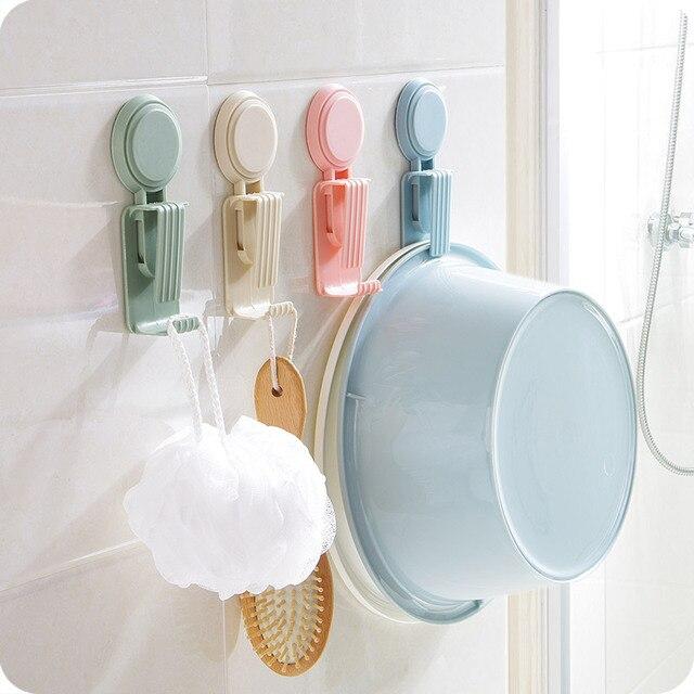 New Suction wall hook Rack Decorative Washbasin Toilet Bathroom ...