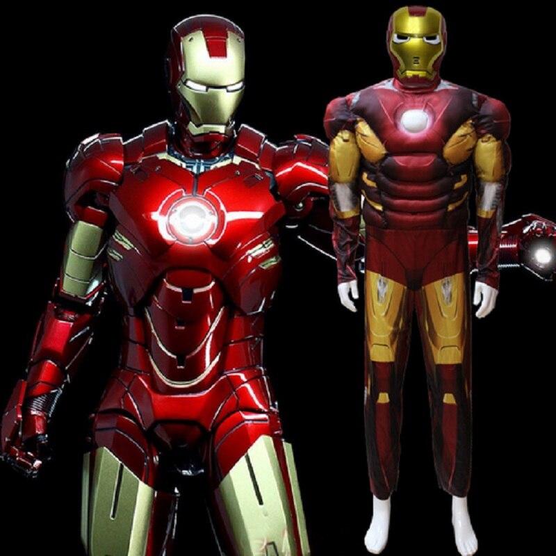 Iron man costume adult ironman adult child boys iron man - Masque iron man adulte ...