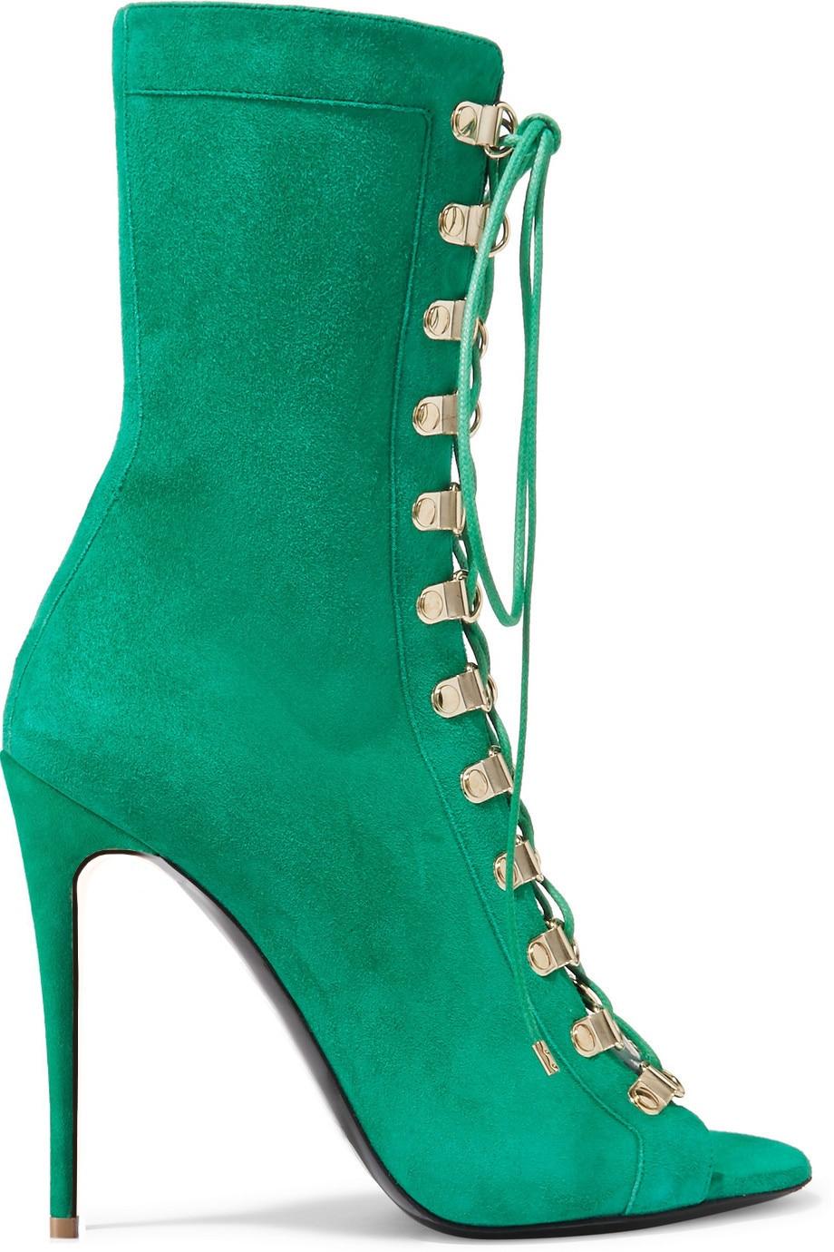 Chaussons Brun Talon Bottes Haut Peep Chaussures Dames Partie De Robe Grande Beige Cheville Lacent Boule Toe Vert Taille Talons Sexy Femmes Xq0q1FwU8