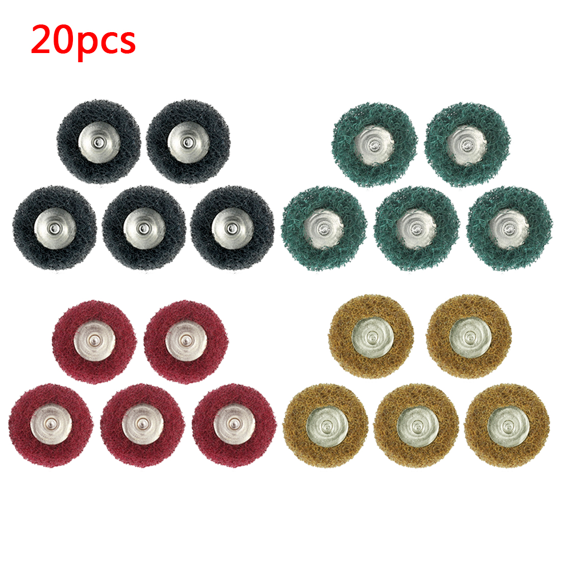 Hot Sale 20pcs Buffing Pad Brush Polishing Wheel Jewelry Metal Micro-Electronic Dremel Accessories For Rotary Polishing Pads