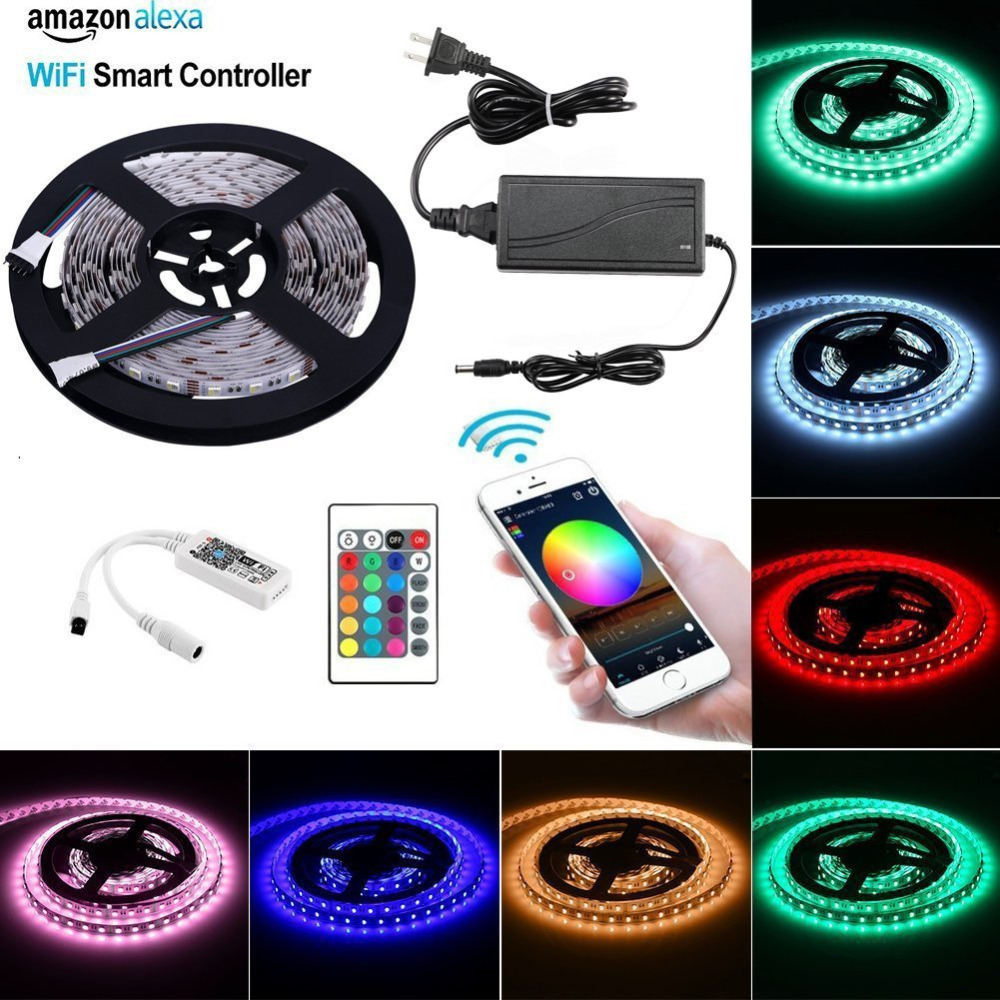 16.4Ft Flexible LED Strip Light Kit SMD 5050 300LEDs RGBW