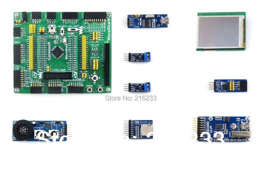 STM32F405 STM32 ARM Cortex-M4 Development Board STM32F405RGT6 + 8 Accessory Modules Kits = Open405R-C Package A module stm32 arm cortex m3 development board stm32f107vct6 stm32f107 8pcs accessory modules freeshipping open107v package b