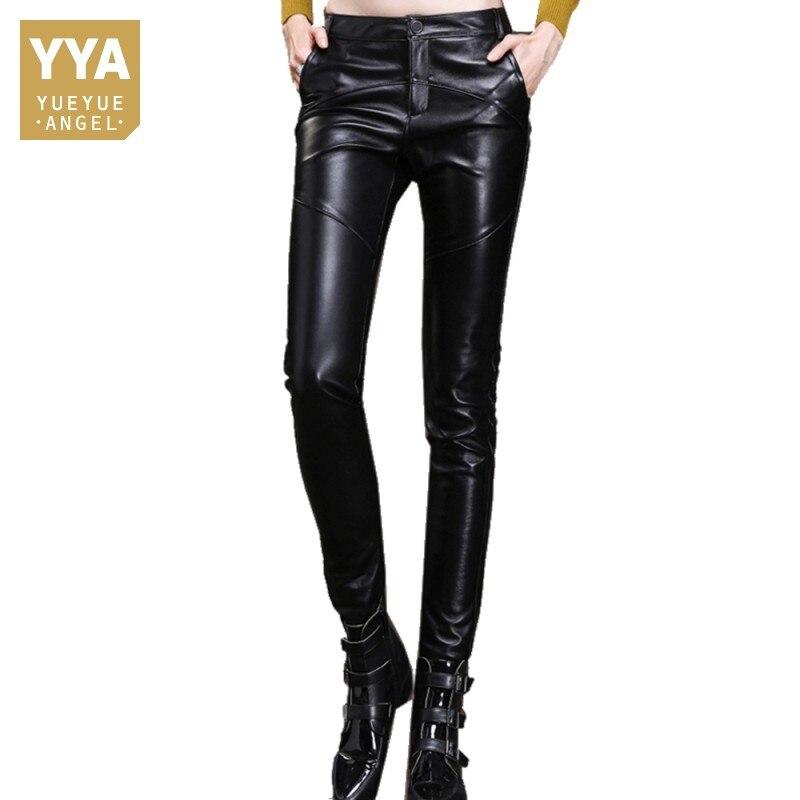 New Luxury Skinny Genuine Leather Pencil Pants Women Natural Sheepskin Real Leather Lady Trousers Slim Plus Size 4XL Streetwear