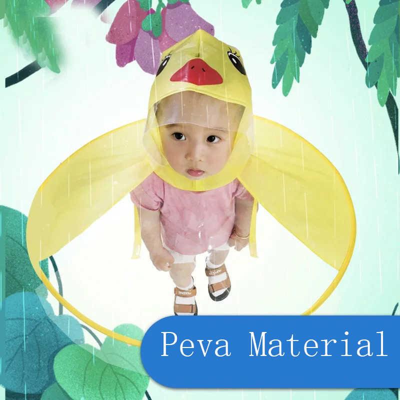 Casaco Menina Menino dos desenhos animados Crianças Capa de Chuva Capa de Chuva Impermeável capa de Chuva capa de Chuva Poncho Tenda para Crianças Menino Chapéu À Prova D' Água Clara