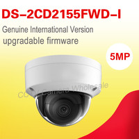 Free Shipping English Version DS 2CD2155FWD I 5MP WDR Fixed Dome Network Cctv Camera POE IP67