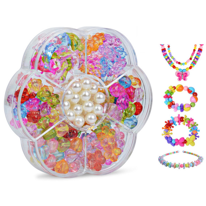 Puzzle Toys Bracelet-Kit String-Beads Necklace Jewelry-Making-Set Girls Creative Children
