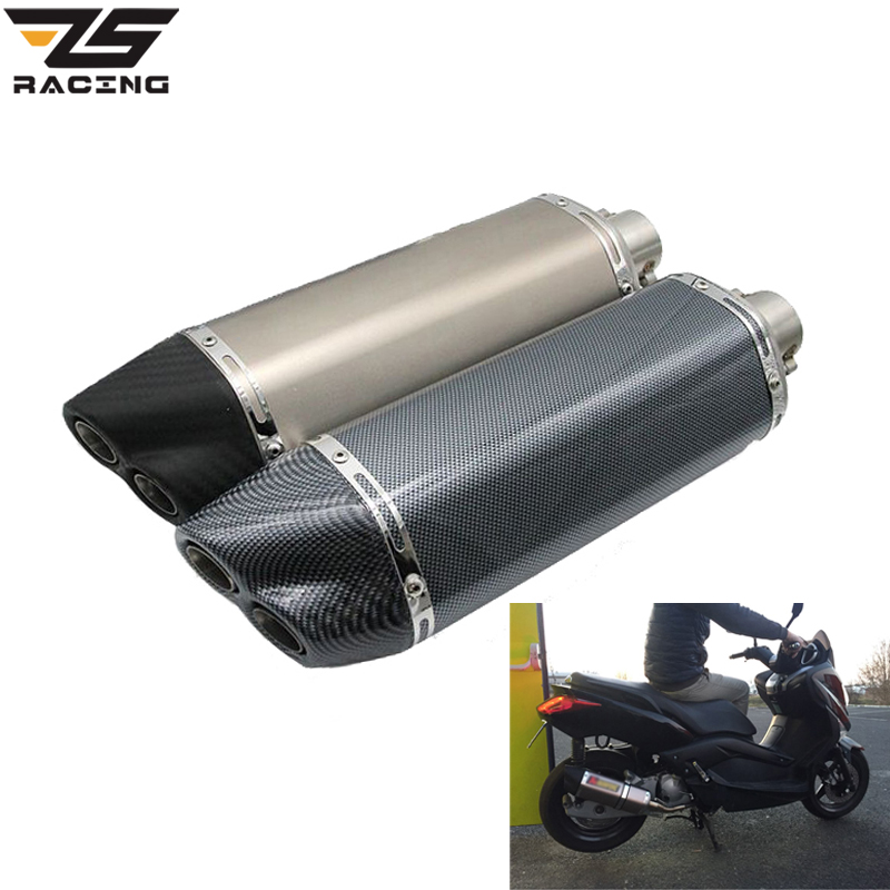 ZS Racing 51mm Universal Motorcycle Modified Exhaust Muffle Pipe Scooter GY6 CBR CBR125 CBR250 CB400 CB600 YZF FZ400 Z750 YZF600 modified akrapovic exhaust escape moto silencer 100cc 125cc 150cc gy6 scooter motorcycle cbr jog rsz dirt pit bike accessories