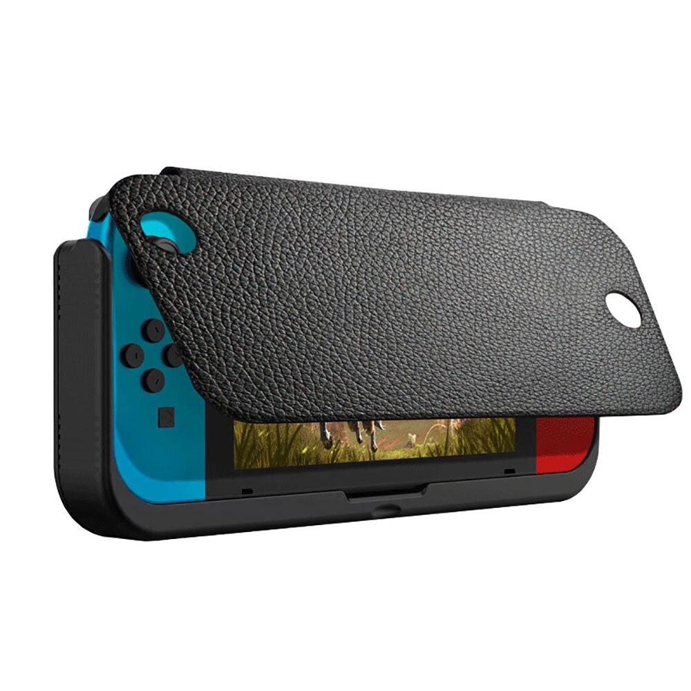10000 mAh chargeur de batterie étui pour support de commutateur de Nintendo support de support en cuir NS pour Nintendo Switch housse de batterie portative cadeaux - 3