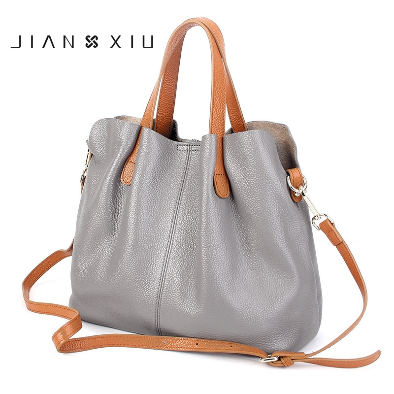 JIANXIU Luxury Women Handbag 100% Genuine Leather Ladies Casual Tote Handbags Female Messenger bag Large Capacity Shoulder Bags luxury handbags women bags designer red genuine leather tassel messenger bag fashion extra large casual tote zipper shoulder bag