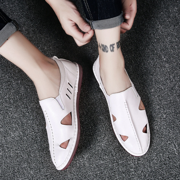 Men Summer Hollow Out Comfortable Breathable Beach Sandals Casual Outdoor Slippers Sandals Daily Men Casual Shoes Big Size 38-47